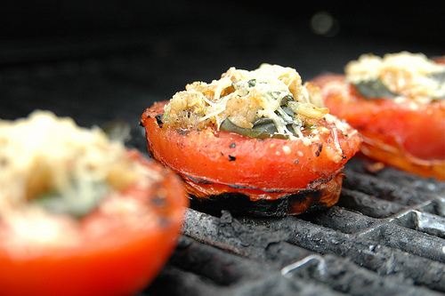 Delicious grilled tomatoes