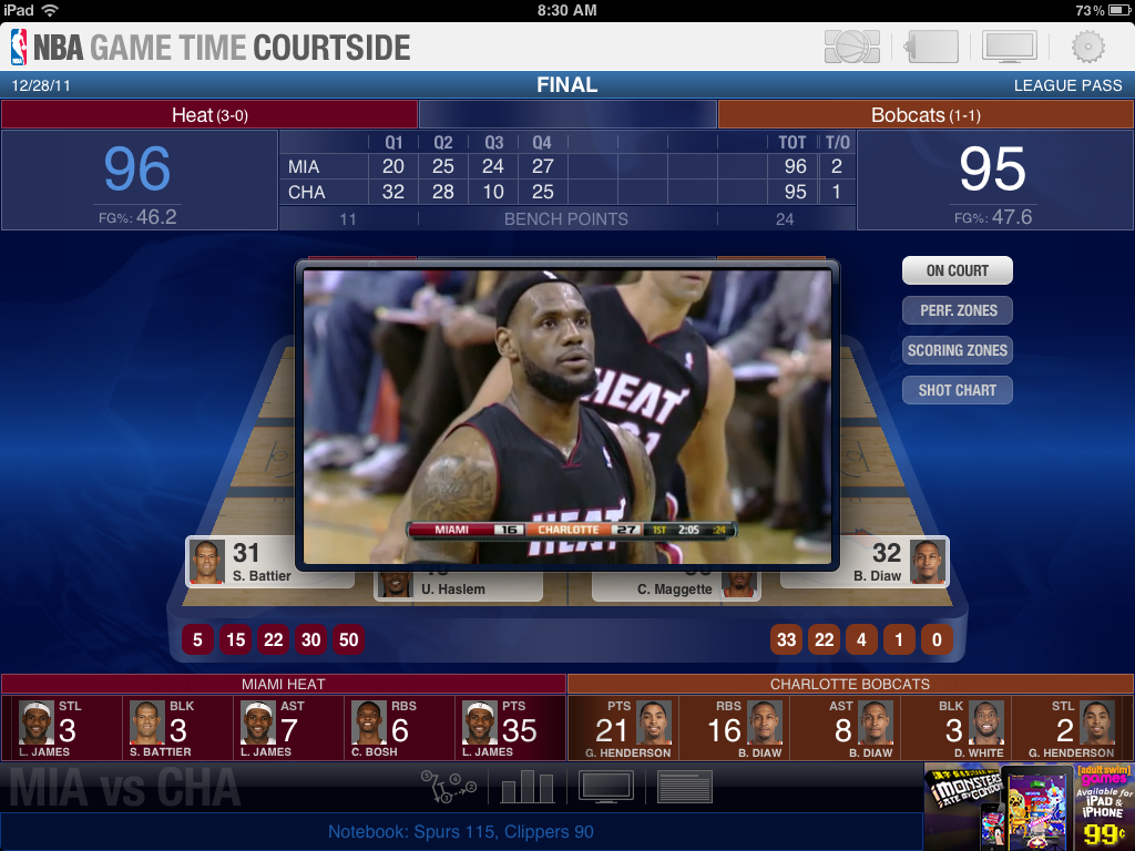 Stay in Touch with the NBA Playoffs with Game Time