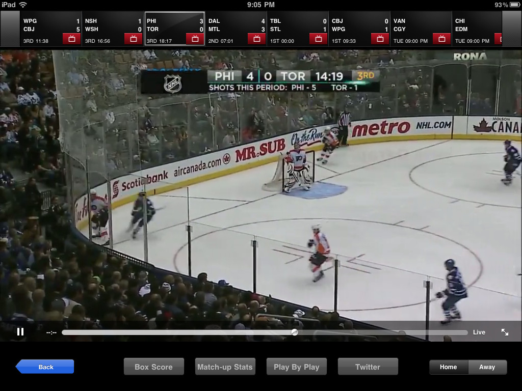 Watch NHL GameCenter from Anywhere