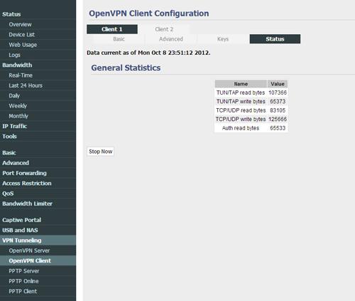 TomatoUSB OpenVPN Client, Server, PPTP Client/Server
