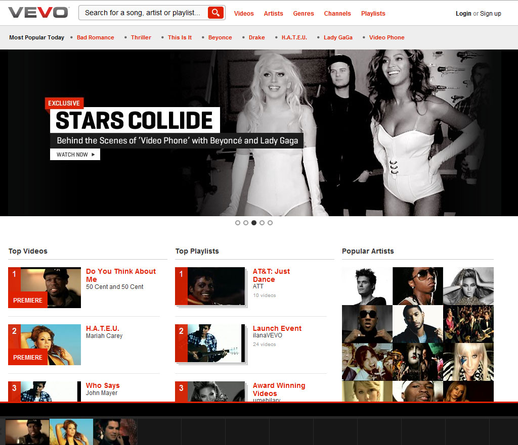 Vevo: Your Source for Music Videos