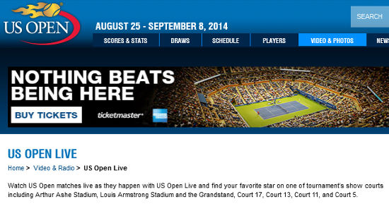 How to Watch US Open Tennis Tournament for Free on USOpen.Org