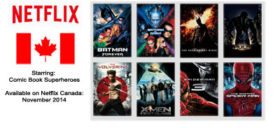 Superhero Movies - Streaming on Netflix Canada November 2014