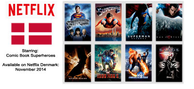 Superhero Movies - Streaming on Netflix Denmark November 2014