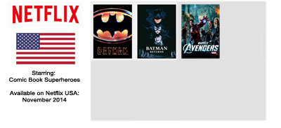 Superhero Movies - Streaming on Netflix USA November 2014